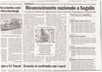 "About the plantar patent of Mastro Segalin - from "" il Gazzettino "" ( ITALIAN NEWSPAPER)"
