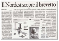 "segalin explains how important it is to patent own ideas - "" IL GAZZETTINO"" ( important national newspaper)"